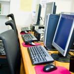 Six Computer Terminals