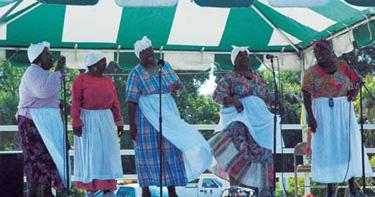 Performers singing