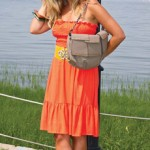 Mount Pleasant Fall Fashion - Katie, orange dress