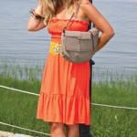 Mount Pleasant Fall Fashion - Katie, orange dress