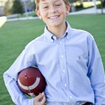 Owen (9) wears tops and pants by Ralph Lauren that he purchased from The Ragamuffin Shop. He has accessorized with an alligator belt and a family heirloom sterling silver belt buckle that belonged to his grandfather.