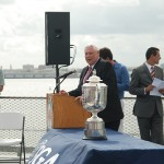 Allen Wronowski, PGA President, speaks to the Yorktown crowd.