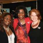 Prisilla griffin, Jannie Lewis and rebekah ivie of traci Lynn Jewelry take a moment to pose at the charleston's Women's Show.