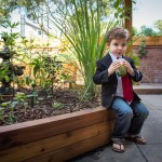 "Kye was the star of the photo shoot at the chef's herb garden at Burtons in Mount Pleasant. ""We are really focused on quality and serving foods that are in season,"" said executive chef, Chase Barton. ""Every morning I taste everything on the line and our service is the best."""