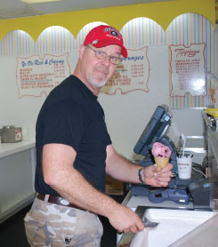 Bryan Cole of Ye Ole Fashioned Ice Cream & Sandwich Cafe, Mt Pleasant, SC