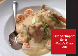 Best Shrimp and Grits: Page's Okra Grill