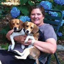 Linda Page, Mayor of the Town of Mount Pleasant with her 2 beagles