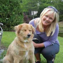 Michelle Cieslak, owner of Pleasant Paws Dayspa in Mount Pleasant with her pet
