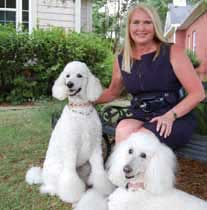 Paige Pollock, Mt Pleasant Realtor, with her dogs