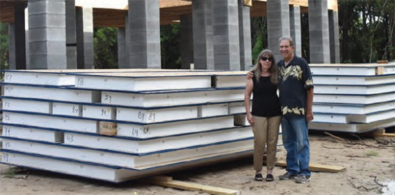 Stan And Suzanne Gorlitsky Admire The Foundation Of What Will Soon Be Their New Home