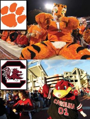 USC/Clemson Mascots