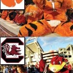 USC and Clemson Mascots