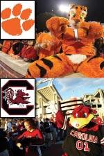USC and Clemson Mascots