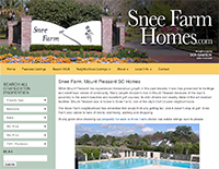 ECON Website: Snee Farm Homes