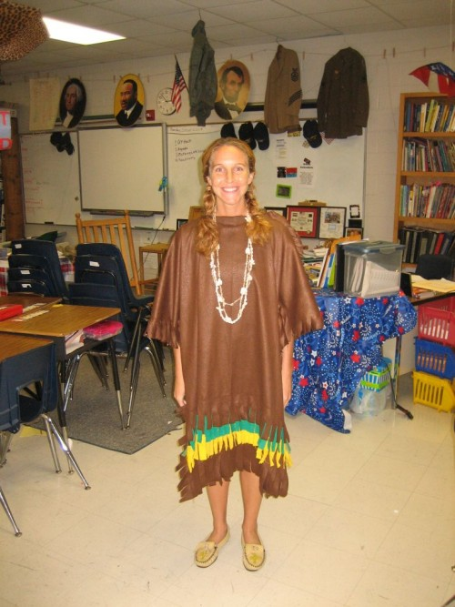 dressed up native american