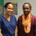 Recent Capers graduate Kristina Venning, left, with Dr. Fayrine Brown.
