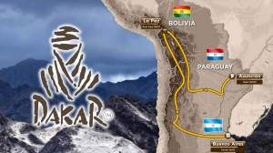 The Dakar 2017 Route  - Click to Enlarge
