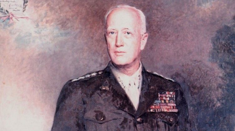 General George S. Patton painting by Boleslaw Czedekowski hangs in Mt Pleasant home of his grandson