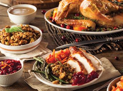 Mount Pleasant, SC Thanksgiving turkey dinner.