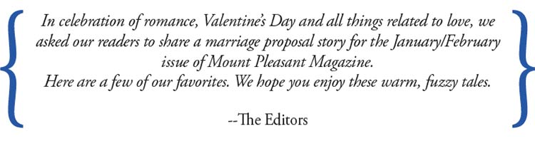 Message from the Mount Pleasant Magazine Editors in celebration of Valentine's Day