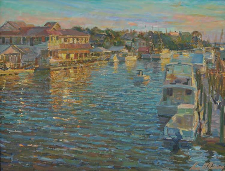 """Kevin MacNamara's painting """"Shem Creek"""""""