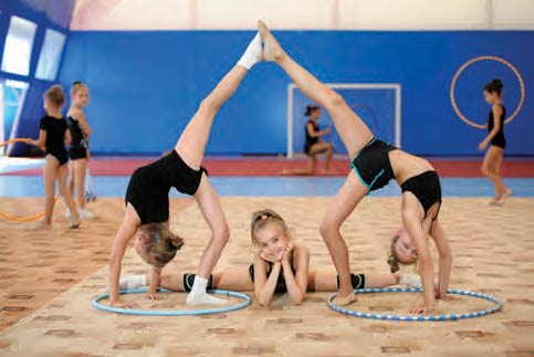 Students from Tapio School of Dance and Gymnastics