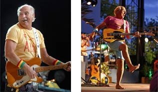 Jimmy Buffett on stage in past performances