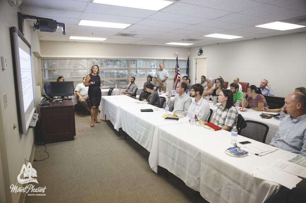 Director of Planning & Development speaks during a recent Code for Lunch event.