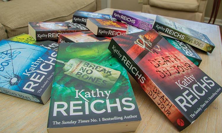 a collection of Kathy Reichs books
