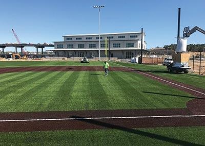 A baseball diamond a Shipyard Park