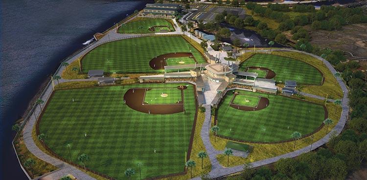 Shipyard Park will feature five baseball diamonds.