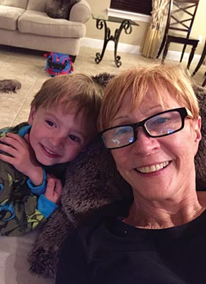Patty Scarafile and her 4-year-old grandson Leo.