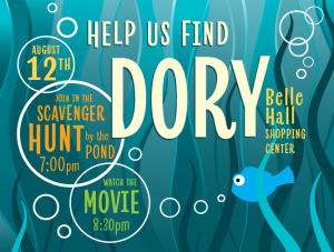 Finding Dory Movie Night and Scavenger Hunt @ Belle Hall Shoping Center