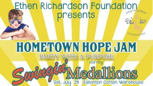 Hometown Hope Jam with Swingin' Medallions @ Eatonton Cotton Warehouse