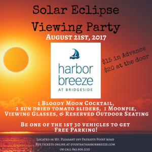 Solar Eclipse Viewing Party @ Harbor Breeze Restaurant and bar | Mount Pleasant | South Carolina | United States