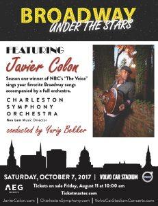 Javier Colon w/ Charleston Symphony Orchestra @ Volvo Car Stadium | Charleston | South Carolina | United States