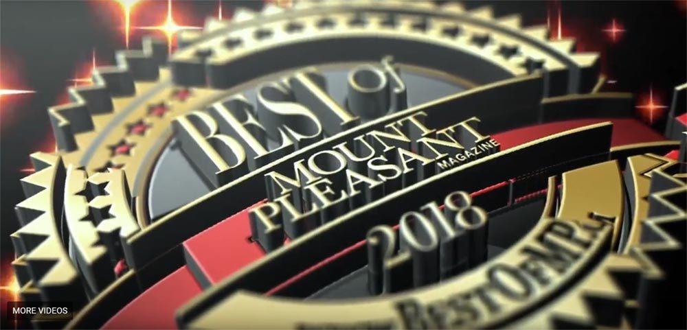 2018 Best of Mount Pleasant 3D logo
