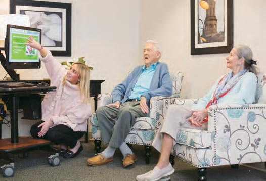 Franke at Seaside activities with residents