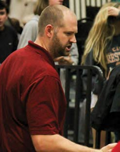 Wando High School basketball coach Chris Warzynski