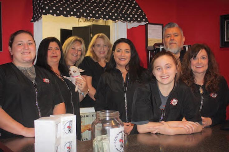 The staff at Ziggy's Dog Parlor