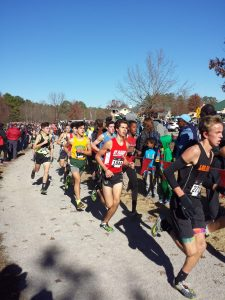 Zane Jackson running a race