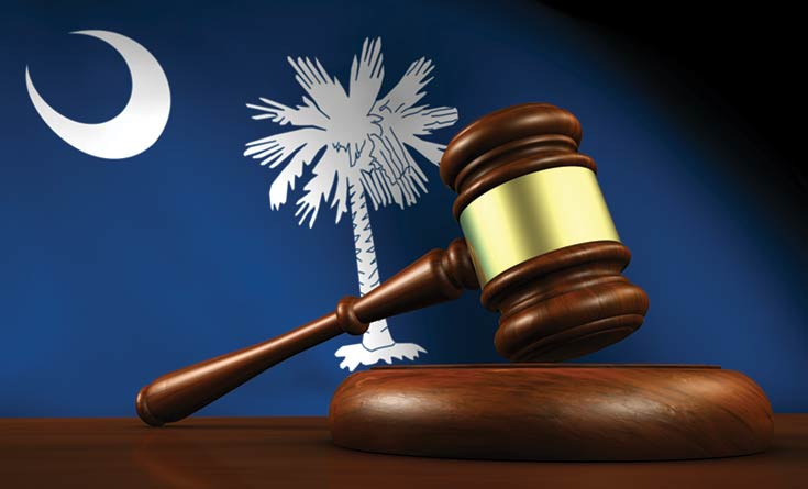 SC Flag and a Gavel. Article - Weird, Crazy, Outdated SC Laws
