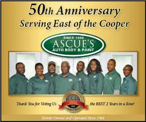 Ascue's Auto Body & Paint Shop, serving East of the Cooper for 50 years