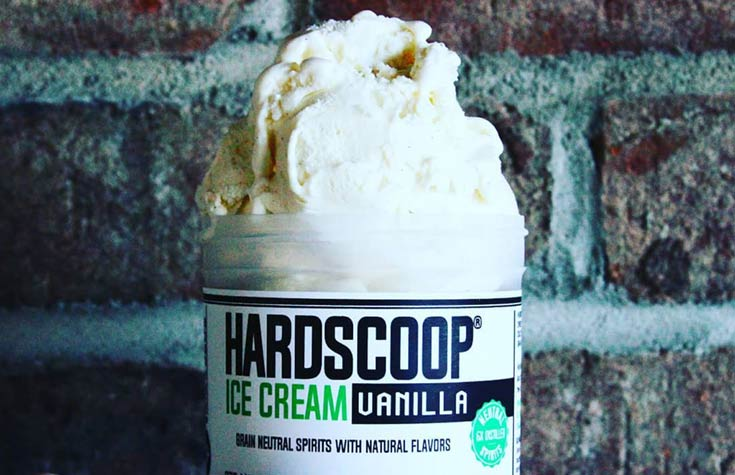 Hardscoop Vanilla Ice Cream - 16 proof flavor!