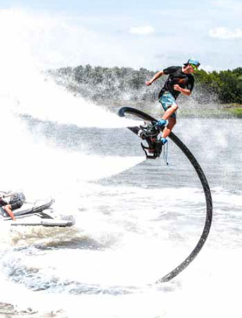 Flyboarding with Hydrofly in Charleston Harbor, Charleston, South Carolina