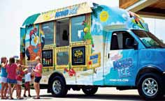 Kona Ice, a bright, mobile Hawaiian-style truck