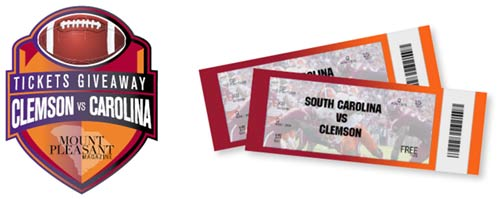 Win 50-Yard line Tickets to the Clemson/Carolina Palmetto Bowl!