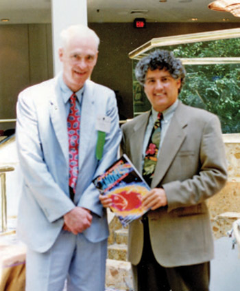 Bill Macchio, right, with Bill Gray, former hurricane forecaster with the University of Colorado.