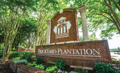 Brickyard Plantation neighborhood entrance sign