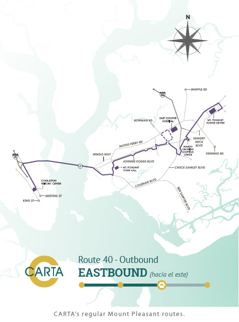 CARTA's regular Mount Pleasant routes.